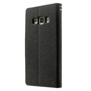 Diary PU kožené puzdro na Samsung Galaxy A3 - čierne - 2