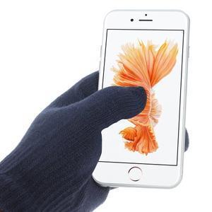 Gloves dotykové rukavice na mobil - tmavomodré - 2