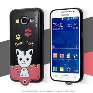 Mačička Domi obal pre mobil Samsung Galaxy Core Prime - čierný - 2