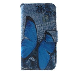 Puzdro na mobil Samsung Galaxy Core Prime - modrý motýl - 2