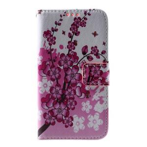 Puzdro na mobil Samsung Galaxy Core Prime - kvetoucí větvička - 2
