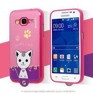 Mačička Domi obal pre mobil Samsung Galaxy Core Prime - rose - 2