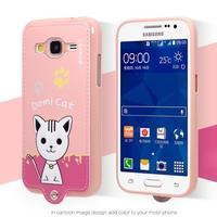 Mačička Domi obal pre mobil Samsung Galaxy Core Prime - ružový - 2/2