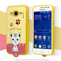 Kočička Domi obal na mobil Samsung Galaxy Core Prime - žlutý - 2/2