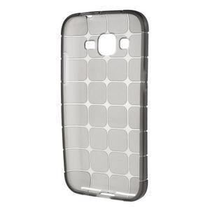 Square matný gélový obal pre Samsung Galaxy Core Prime - šedý - 2