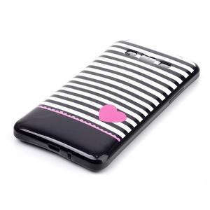 Jelly gélový obal na mobil Samsung Galaxy Grand Prime - srdce - 2