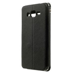 Safety puzdro s okienkom pre Samsung Galaxy Grand Prime - čierne - 2