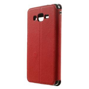 Safety puzdro s okienkom pre Samsung Galaxy Grand Prime - červené - 2