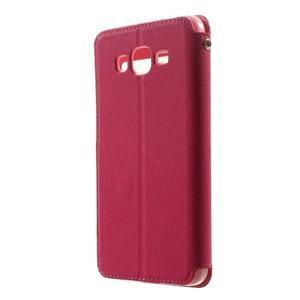 Safety puzdro s okienkom pre Samsung Galaxy Grand Prime - rose - 2