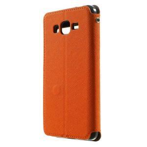 Safety puzdro s okienkom pre Samsung Galaxy Grand Prime - oranžové - 2