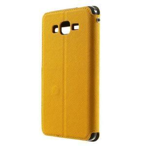 Safety puzdro s okienkom pre Samsung Galaxy Grand Prime - žlté - 2
