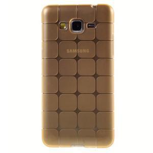 Square gélový obal pre Samsung Galaxy Grand Prime - zlatý - 2