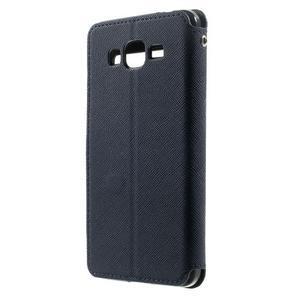 Safety puzdro s okienkom pre Samsung Galaxy Grand Prime - tmavomodré - 2