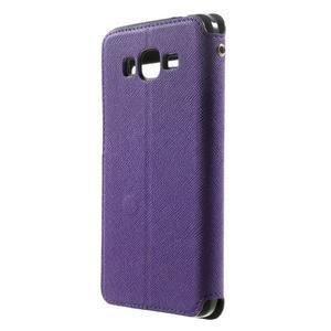 Safety puzdro s okienkom pre Samsung Galaxy Grand Prime - fialové - 2