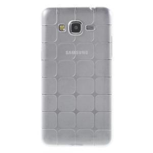 Square gélový obal na Samsung Galaxy Grand Prime biely - 2