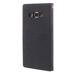 Diary PU kožené puzdro na mobil Samsung Galaxy Grand Prime - čierne - 2