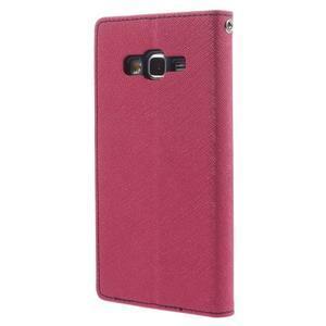 Diary PU kožené puzdro pre mobil Samsung Galaxy Grand Prime - rose - 2