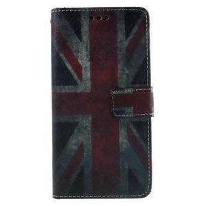 Wallet PU kožené puzdro pre mobil Samsung Galaxy Grand Prime - UK vlajka - 2