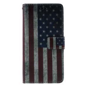 Wallet PU kožené puzdro na mobil Samsung Galaxy Grand Prime - US vlajka - 2
