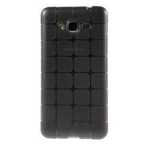 Square gélový obal na Samsung Galaxy Grand Prime šedý - 2