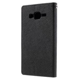 Diary štýlové peňaženkové puzdro na Samsung Galaxy J5 - čierné - 2