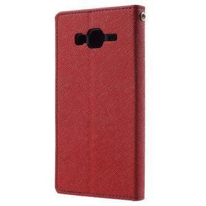 Diary štýlové peňaženkové puzdro pre Samsung Galaxy J5 -  červené - 2