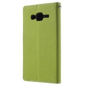 Diary štýlové peňaženkové puzdro pre Samsung Galaxy J5 -  zelené - 2