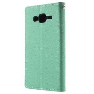 Diary štýlové peňaženkové puzdro pre Samsung Galaxy J5 -  azúrové - 2