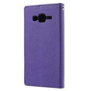 Diary štýlové peňaženkové puzdro pre Samsung Galaxy J5 -  fialové - 2