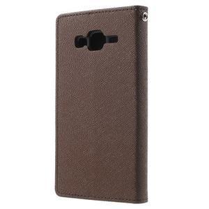 Diary štýlové peňaženkové puzdro na Samsung Galaxy J5 -  hnedé - 2