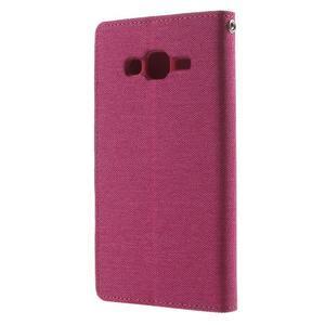 Luxury textilné/pu kožené puzdro pre Samsung Galaxy J5 - rose - 2