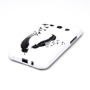 Gélový obal na mobil Samsung Galaxy J5 - ptačí peříčka - 2