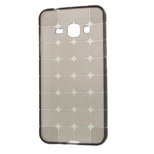 Square matný gélový obal na Samsung Galaxy J5 - šedý - 2