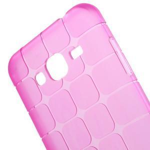 Square matný gélový obal na Samsung Galaxy J5 - rose - 2