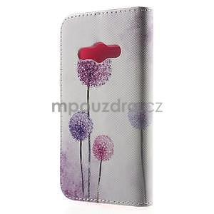 Vzorové peňaženkové puzdro na Samsung Galaxy Xcover 3 - púpava - 2