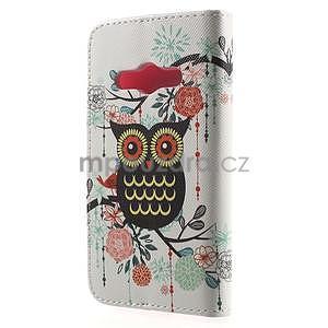 Vzorové peňaženkové puzdro na Samsung Galaxy Xcover 3 - sova - 2