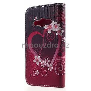 Vzorové peňaženkové puzdro na Samsung Galaxy Xcover 3 - srdce - 2