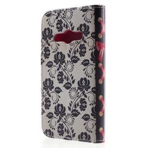 Vzorové peňaženkové puzdro na Samsung Galaxy Xcover 3 - mašlička - 2