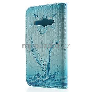 Vzorové peňaženkové puzdro pre Samsung Galaxy Xcover 3 - vodný kvet - 2