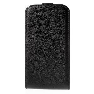 Flipové koženkové puzdro na Samsung Galaxy Xcover 3 - čierne - 2