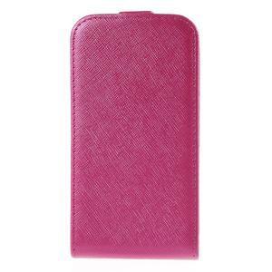 Flipové koženkové puzdro pre Samsung Galaxy Xcover 3 - ružové - 2