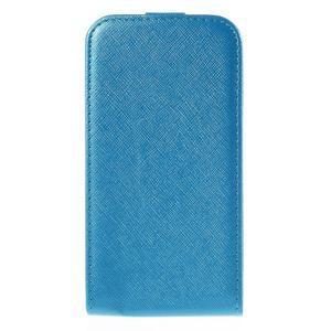 Flipové koženkové puzdro na Samsung Galaxy Xcover 3 - modré - 2