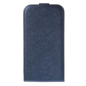 Flipové koženkové puzdro pre Samsung Galaxy Xcover 3 - tmavomodré - 2