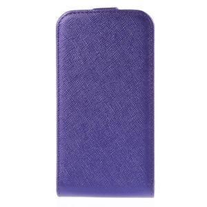Flipové koženkové puzdro pre Samsung Galaxy Xcover 3 - fialové - 2
