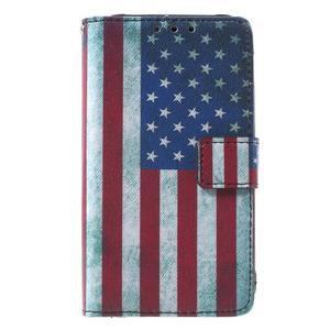 Štýlové peňaženkové puzdro pre Samsung Galaxy Xcover 3 -  US vlajka - 2