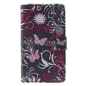 Štýlové peňaženkové puzdro pre Samsung Galaxy Xcover 3 - motýle - 2