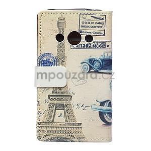 Peňaženkové púzdro pre Samsung Galaxy Xcover 3 - staré auto - 2