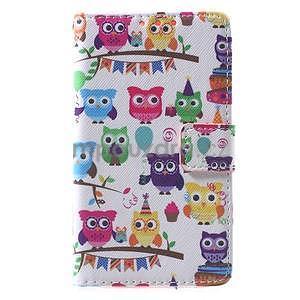 Štýlové peňaženkové puzdro pre Samsung Galaxy Xcover 3 - sovičky - 2