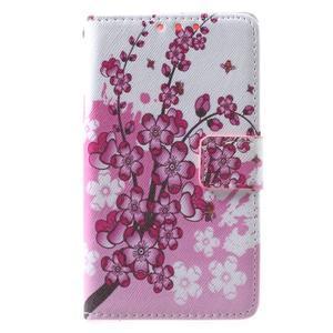Štýlové peňaženkové puzdro pre Samsung Galaxy Xcover 3 - kvitnúca vetvička - 2