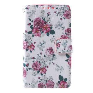 Štýlové peňaženkové puzdro pre Samsung Galaxy Xcover 3 - kvetinová koláž - 2